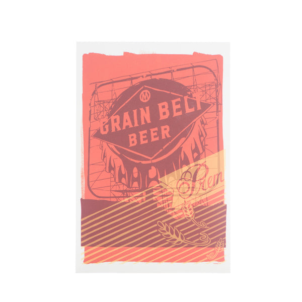 Grain Belt Sign Postcard by Adam Turman