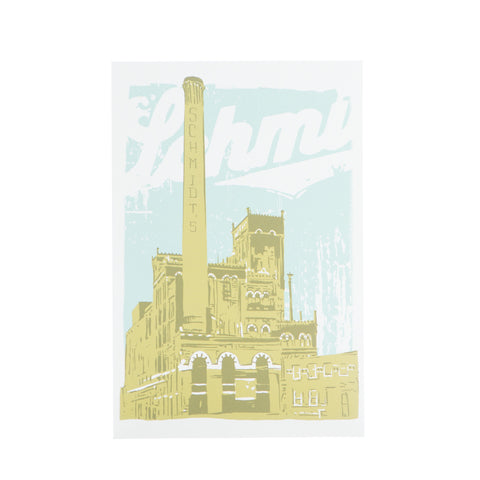 Schmidt's Brewery Postcard by Adam Turman