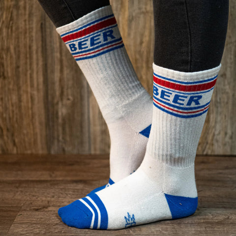 Beer Crew Cut Gym Socks