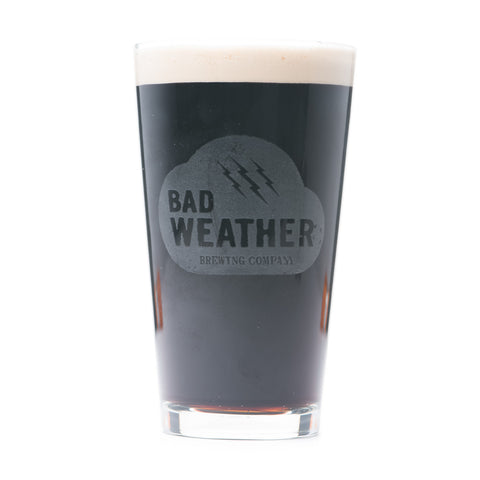 Bad Weather Brewing Pint Glass