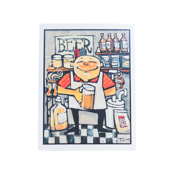 Basement Brewer Greeting Card by Tim Nyberg