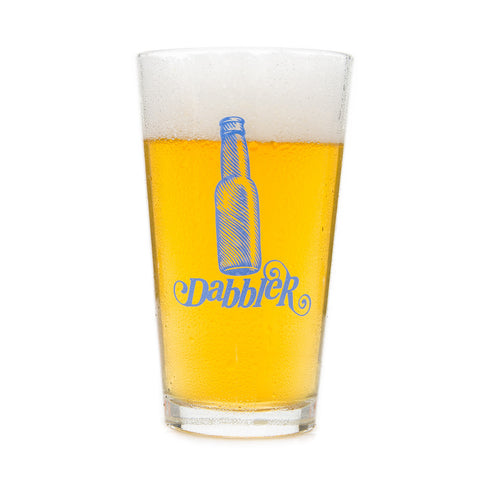 "Beer Dabbler ""Dabbler"" Pint Glass"
