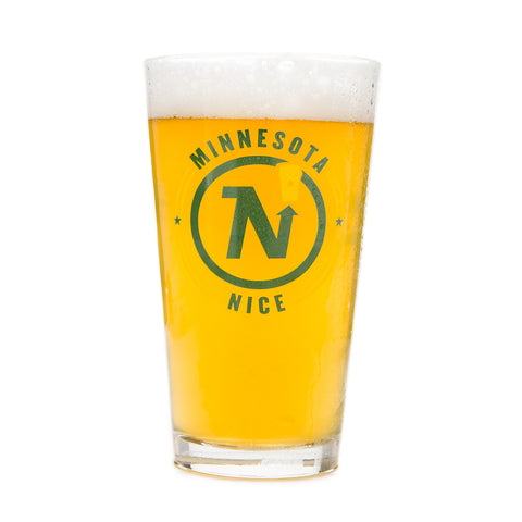 "Beer Dabbler ""Minnesota Nice"" N Star Pint Glass"
