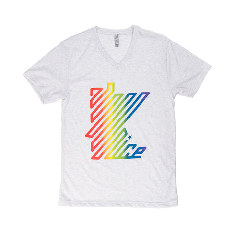 MN Nice Rainbow v-neck shirt gray