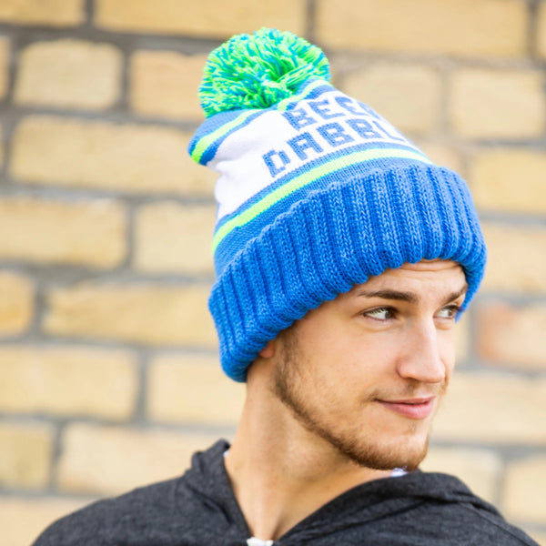 Blue & Green Beer Dabbler Pom Hat