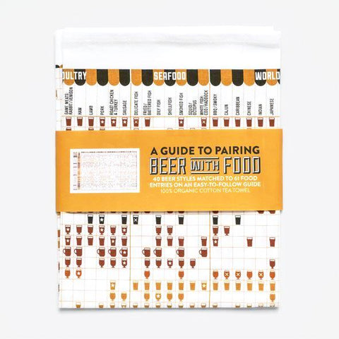 Beer & Food Pairing Guide Tea Towel