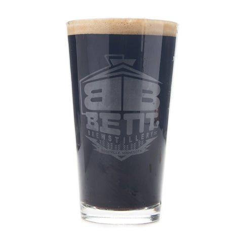 Bent Brewstillery Pint Glass