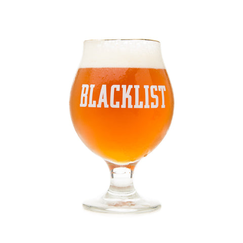 Blacklist Brewing Gold-Rimmed Tulip Glass