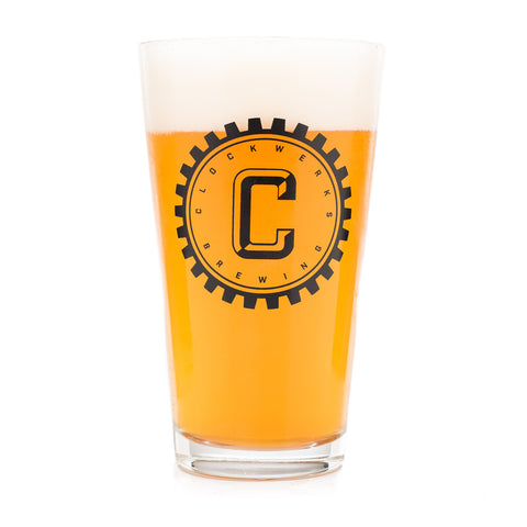 Clockwerks Brewing Pint Glass