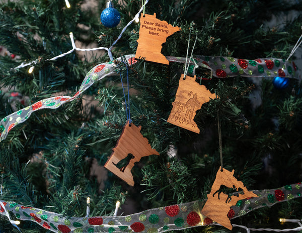 Minnesota Ornaments by Create Laser Arts
