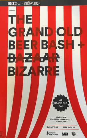Grand Old Beer Bash + Bizarre Limited Ed Print