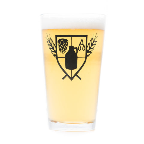 The Growler Crest Pint Glass