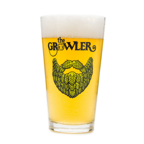 "The Growler ""Hop Beard"" Pint Glass"