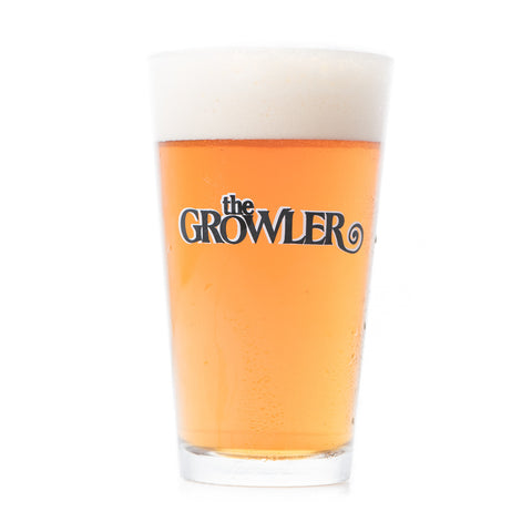 The Growler Logo Pint Glass