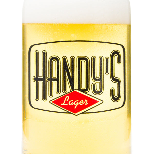 Herkimer Brewery Handy's Lager Can Glass