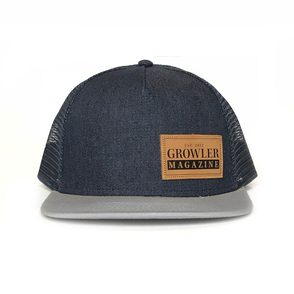 Denim Growler Magazine Snapback