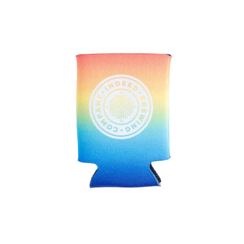 Indeed Brewing Company Can Koozie Coozie rainbow front