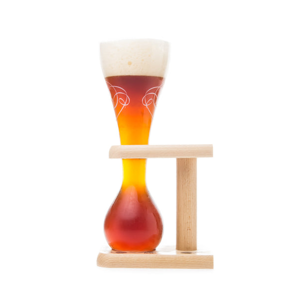 Kwak Glass and Wooden Stand