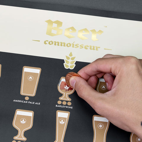 Beer Connoisseur Scratch Poster