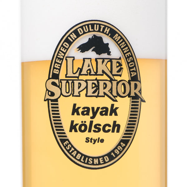 Lake Superior Kayak Kölsch Stange Glass