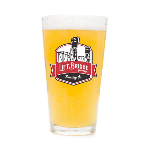 Lift Bridge Brewing Pint Glass