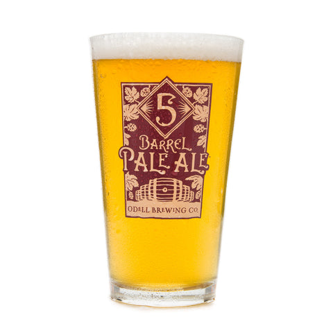 Odell Brewing 5 Barrel Pale Ale Pint Glass