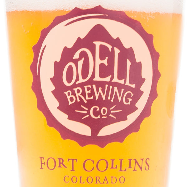 Odell Brewing Company Logo Glass