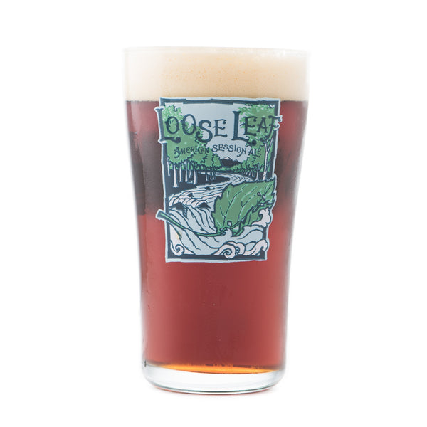 Odell Brewing Loose Leaf Pint Glass