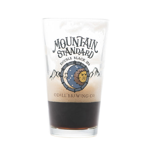 Odell Brewing Mountain Standard Pint Glass