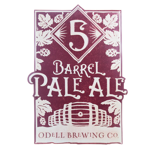 Odell 5 Barrel Pale Ale Tin Tacker