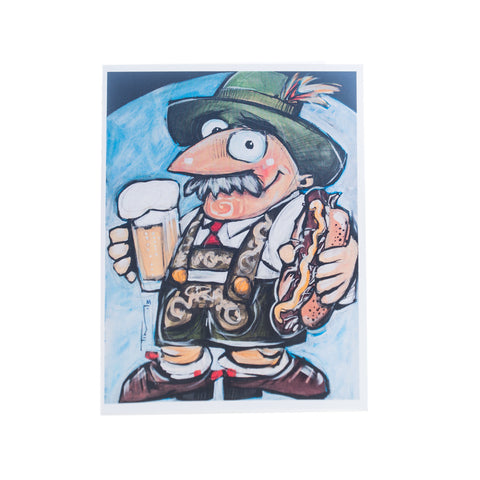 """Oktoberfest"" Greeting Card by Tim Nyberg"