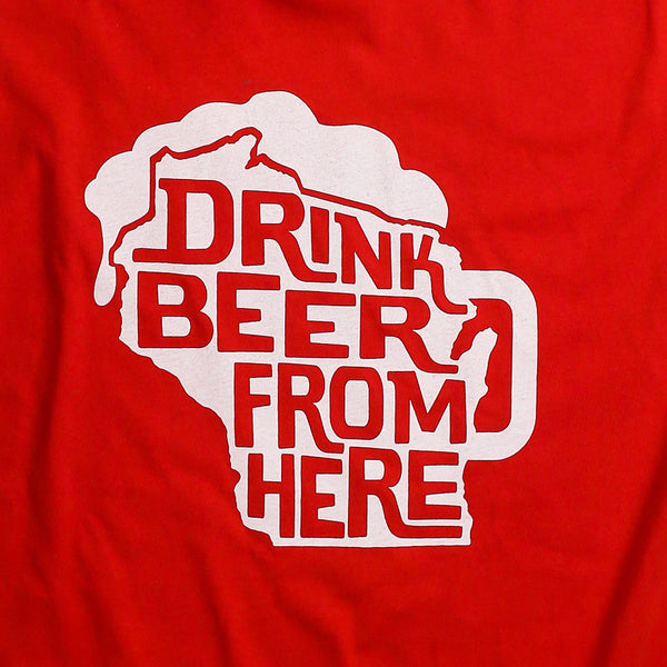 "Beer Dabbler ""Drink Beer From Here"" WI T-shirt"