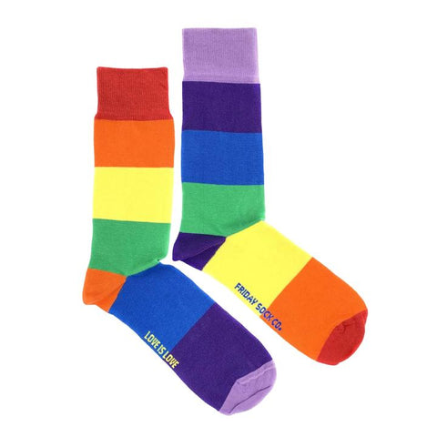 "Mismatched ""Love is Love"" Rainbow Socks"
