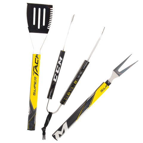 Reclaimed Hockey Stick 3-Piece BBQ Set