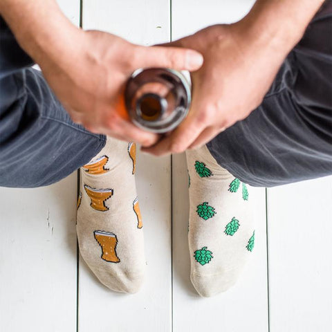 Beer and Hop Socks