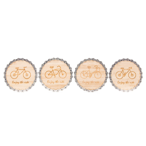 Bamboo Bike Chain Coasters