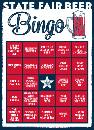 2019 State Fair Bingo Event T-Shirt