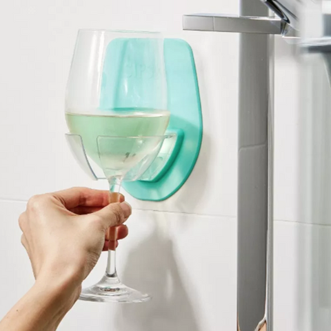 Sipski Shower Wine Holder
