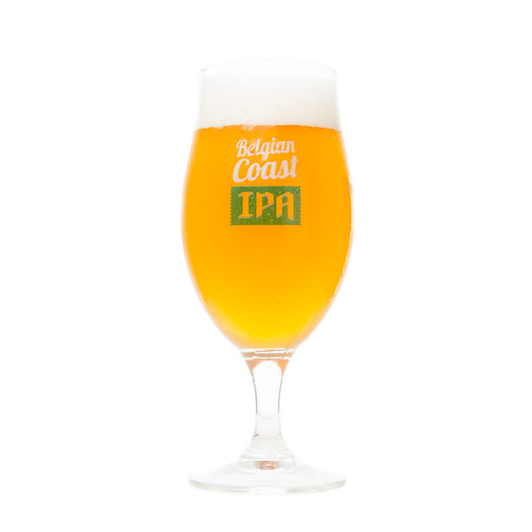 Green Flash & St. Feuillien Belgian Coast IPA Glass