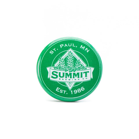 Summit Brewing Company logo pin - green and white