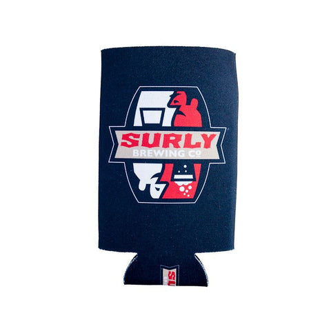 Black Surly Brewing Can Coozie - logo design front