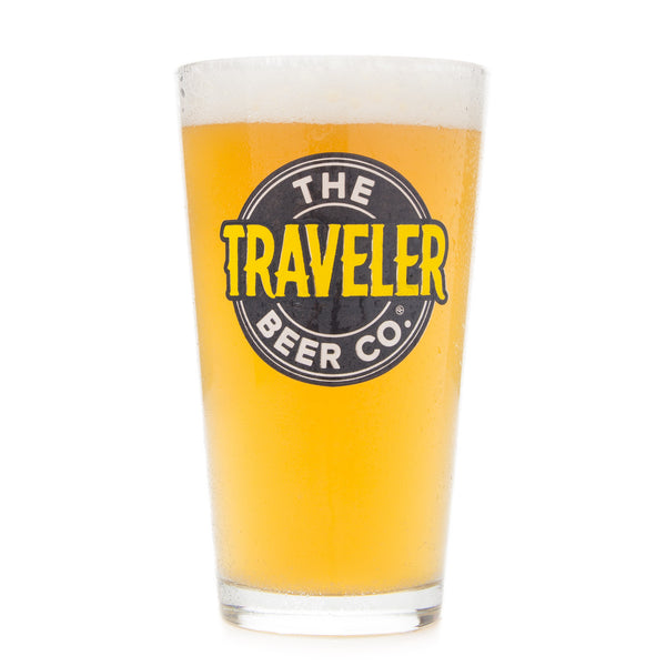 The Traveler Beer Co Pint Glass