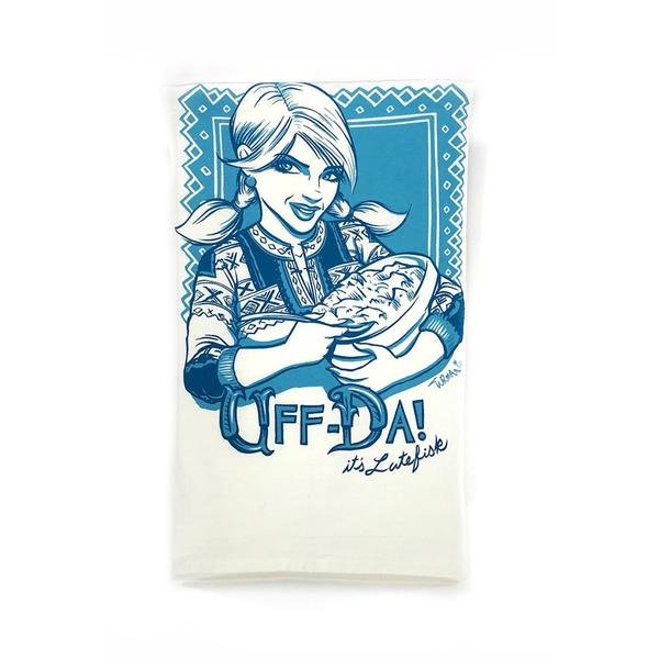 Uffda Tea Towel by Adam Turman