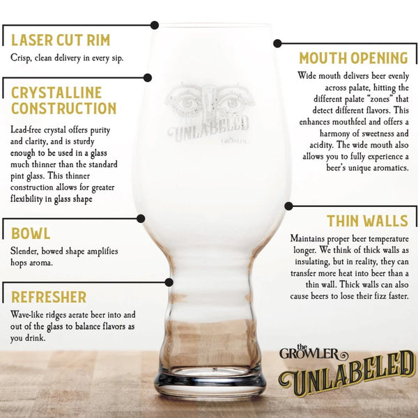 Unlabeled Spiegelau IPA Glass
