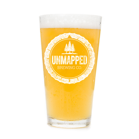 Unmapped Brewing Logo Pint