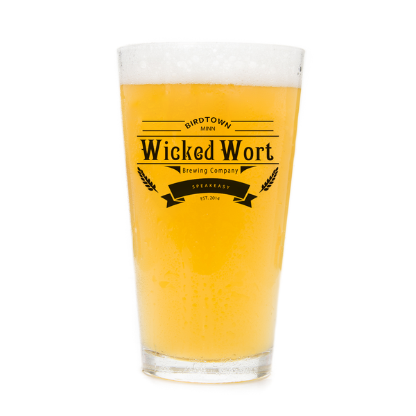 Wicked Wort Brewing Co. Pint Glass