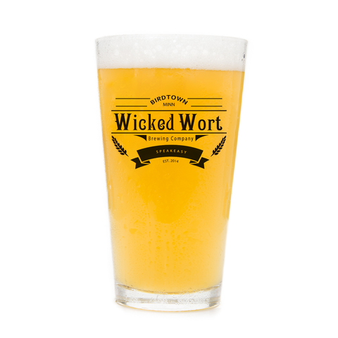 Wicked Wort Pint Glass