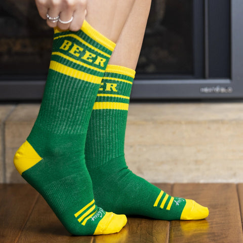 "Packers ""Beer"" Crew Cut Gym Socks"