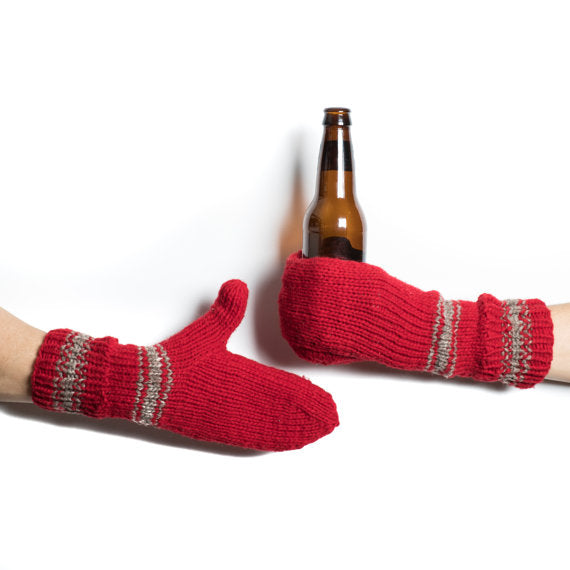 Knitted Beer Mittens
