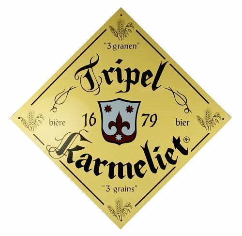 "Tripel Karmeliet ""3 Grain"" Metal Sign"